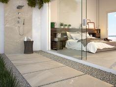CODE62 Collection - COLORKER #DUPLO #20mm #outdoors #tiles #porcelain #stoneeffect #decor #colorker Outdoor Spaces, Indoor Outdoor, Living Spaces, Porcelain, Bed, House, Furniture, Bath Tiles, Home Decor