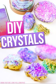 DIY Crystals! Make your own Crystals at home using only ELMERS GLUE AND SEA…