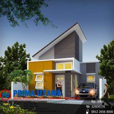 Duplex House Design, House Front Design, Modern House Design, Dream House Plans, Modern House Plans, New Home Designs, Home Design Plans, Type 45, Modern Minimalist House