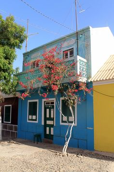 Colorful house, Boa Vista island #CaboVerde #CapeVerde #Kaapverdie #street #island #architecture #colorful