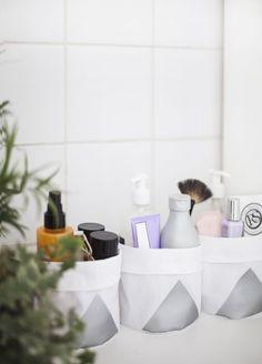 Este artesanato para organizar cosméticos pode também organizar outros produtos de beleza ou itens (Foto: thelovelydrawer.com)