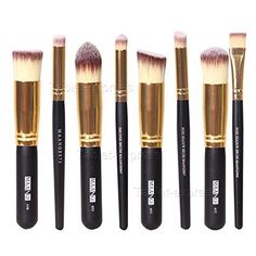 Professional Cosmetic Makeup Brushes Set 8Pcs Face Eyeshadow Nose Foundation Kit >>> You can find out more details at the link of the image. (Note:Amazon affiliate link)