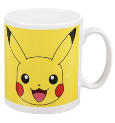 Pokemon Pikachu Mug The most recognised of all the Pokemon species has to be the cute little yellow Pikachu! This awesome, official mug features a Pikachu in a cheery, bright design, perfect for treating yourself to a br http://www.MightGet.com/may-2017-1/pokemon-pikachu-mug.asp