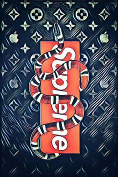 Supreme x Gucci // Hypebeast Wallpapers // Snake Wallpaper, Iphone 6 Wallpaper, Best Iphone Wallpapers, Cartoon Wallpaper, Cool Wallpaper, Mobile Wallpaper, Supreme Iphone Wallpaper, Simpson Wallpaper Iphone, Supreme Background