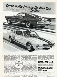 1967 Shelby Mustang GT350 and GT500 by coconv on Flickr. 1967 Shelby Mustang GT350 and GT500
