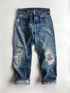 501xx lvc levis vintage clothing levi's big E LEVI'S LEVIS Denim jeans pants Work wear workwear indigo 1955