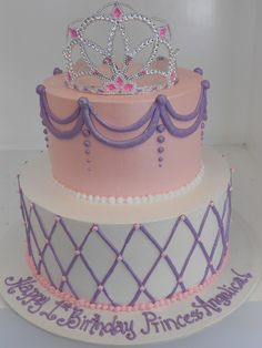 Girly buttercream Princess cake-Did anyone win yet? I just whipped up a fresh one! Pretty Cakes, Cute Cakes, Beautiful Cakes, Amazing Cakes, Girly Cakes, Fancy Cakes, Pink Cakes, Birthday Cake Girls, Princess Birthday
