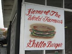 Ann's Snack Bar in Atlanta, Georgia. home of the Ghetto Burger. A must for everyone's Bucket List, even though it may help you kick that bucket.