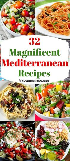 32 Magnificent Mediterranean Recipes from appetizers to mains. 32 Magnificent Mediterranean Recipes from appetizers to mains. Medditeranean Diet, Med Diet, Easy Mediterranean Diet Recipes, Mediterranean Dishes, Cooking Recipes, Healthy Recipes, Cheap Recipes, Healthy Meals, Cake Recipes