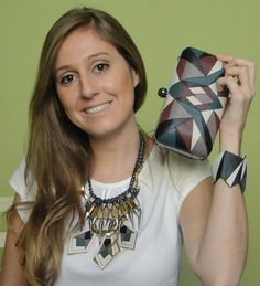 Wow designer Eduarda Abrantes showing some of her creations. Young and avant-guard designer from Brazil, Eduarda seeks geometrical references as triangles and curve shapes, to form a retro aesthetic ally with the simplicity of bauhaus style. Tomorrow's fashion today. www.Wowcracy.com