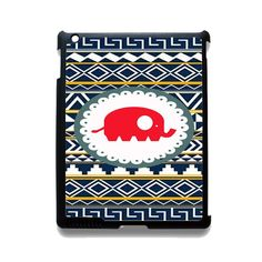 Cute Red Elephant Aztec TATUM-2952 Apple Phonecase Cover For Ipad 2/3/4, Ipad Mini 2/3/4, Ipad Air, Ipad Air 2