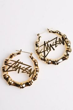 stussy earrings #crispculture   crispculture.com