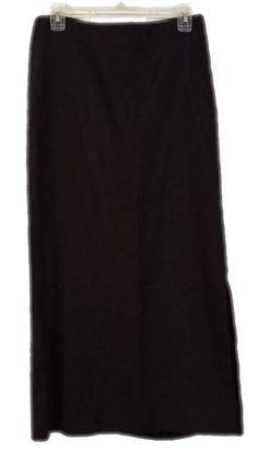 Limited time for Free Shipping! Banana Republic Long Maxi Skirt Size 4 Black   eBay