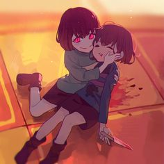 Frisk and Chara
