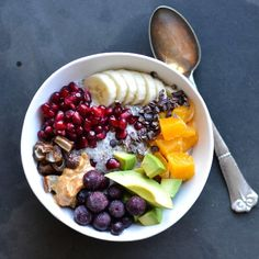 A easy and delicious breakfast. Chia and almond porridge - paleo, vegan and low carb.
