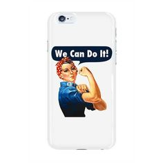 Rosie the Riveter  on a (glossy) phone case. (Phone cases ship separately from clothing products)
