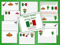 Classroom Freebies: Mexico Themed Writing Paper