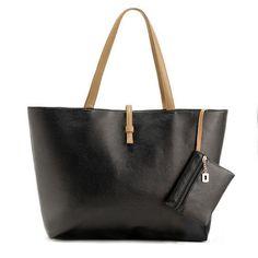 Europe Fashion Street Women Lady Handbag Soft Synthetic Leather Tote Purse Shoulder Bag