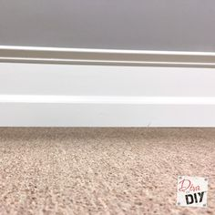 Cheap and easy Home Improvement DIY to add drama to builder grade baseboards by adding trim to your walls and painting the space between them. Home Improvement Loans, Home Improvement Projects, Home Projects, Home Renovation, Home Remodeling, Basement Renovations, Easy Painting Projects, Baseboards, Easy Paintings