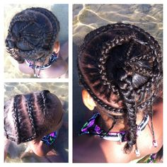 Corn row swirl weave
