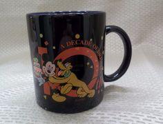 The Disney Store 10th Anniversary Coffee Mug 1997 Cup