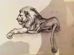 Lion sketch 2 by ~reecekikluvloot on deviantART