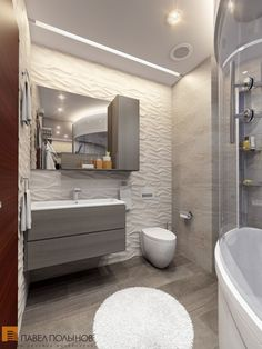 Современный интерьер ванной комнаты / bathroom / bathroom decor / bathroom ideas / by Pevel Polinov Studio #design #interior #homedecor #interiordesign