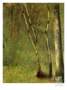 The artwork In the Forest at Pontaubert - Georges Seurat we deliver as art print on canvas, poster, plate or finest hand made paper. Georges Seurat, Wassily Kandinsky, Gustav Klimt, Monet, Maurice Utrillo, Impressionist Artists, Post Impressionism, Rembrandt, French Art