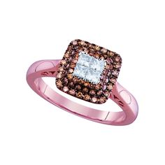 Pin it for later. Find out more chocolate diamond engagement rings. Solid Rose Gold Princess Cut Round White and Chocolate Brown Diamond Engagement Ring OR Fashion Band Invisible and Prong Set Square Shape Solitaire Shaped Halo Ring cttw) Halo Rings, Prong Set, Princess Cut, Chocolate Brown, Diamond Engagement Rings, Rose Gold, Shape, Band, Stuff To Buy