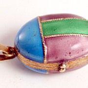 Vintage Enamel on Silver Vermeil Gilded Ladybird Pendant Locket Jewellery Faberge Eggs, Hat Pins, Vintage Jewelry, Coin Purse, Boxes, Enamel, Jewellery, Antiques, Pendant