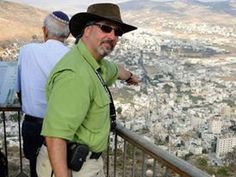 Standing above Shechem pointing out Yosef's tomb