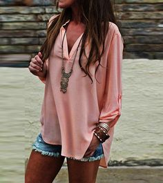 Adorable light summer outfit.