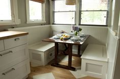 Kitchen Table Bench Seating With Storage