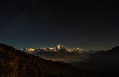 Beautiful Himalaya Nightscape