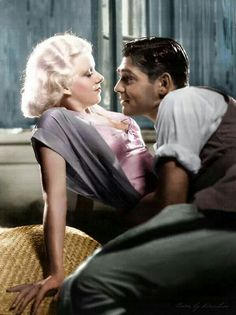 Gable and Harlow in Red Dust.