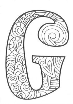The super original mandaletras learn the alphabet - Educational Images Coloring Letters, Alphabet Coloring Pages, Alphabet Art, Coloring Books, Colouring, Easy Coloring Pages, Coloring Pages For Girls, Coloring Pages To Print, Doodle Lettering