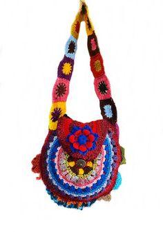 Bolsa Boho Free Crochet | Casulo Dos Fios© | 353F4C - Elo7