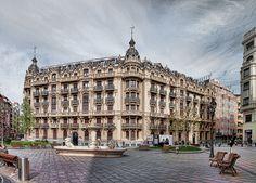 Basque Country, Bizkaia, Bilbao, Plaza Jado
