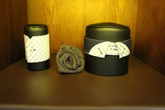 Checked collar and cuff