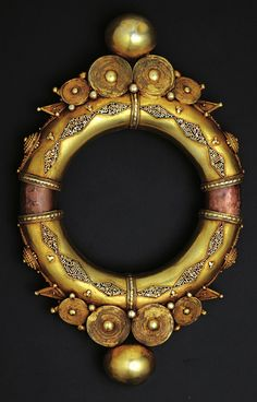 Indonesia   Man's armband with spirals ~'gelang sarung' ~ silver gilt, suasa…