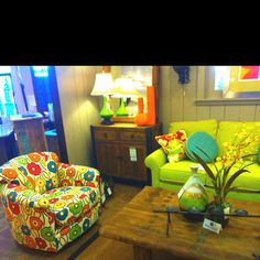 One of the chairs and the sofa that's going to be in my apartment next fall!