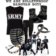 BANGTAN BOYS: WE ARE BULLETPROOF by exoticguardianangel on Polyvore featuring polyvore, fashion, style, Sally&Circle, J Brand, Valentino and Love