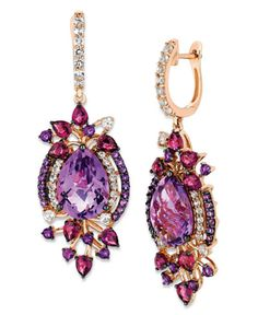 Le Vian® Crazies Collection® Multistone Drop Earrings in 14k Strawberry Rose Gold (13-1/2 ct. t.w.)