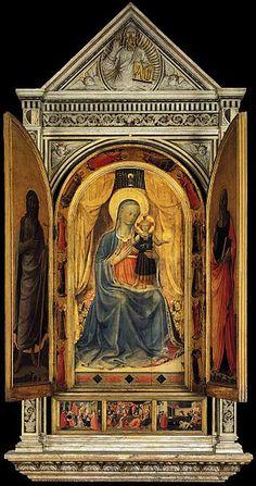 『Tabernacolo dei Linaioli』(1432年 - 1435年頃) サン・マルコ美術館(フィレンツェ)