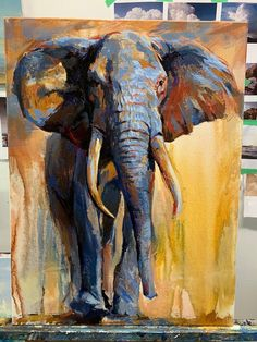 The Journey Me Oil Painting 2019 Elephant Painting Canvas, Art Painting, Animal Art, Lovers Art, Elephant Artwork, Painting, Oil Painting, Animal Paintings, Canvas Painting