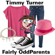 My outfit for Ricardo's bday party!!  Timmy Turner - Fairly OddParents