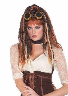 Steampunk Havoc Dreads Costume Wig Adult