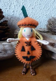 The Enchanted Tree: bendy dolls. Maybe without the face on the pumpkin for autumn.