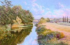 Graham Petley Direct River Otter in Devon - Originals River Otter, Throughout The World, Otters, Devon, Impressionist, Graham, Britain, Country Roads, Fine Art
