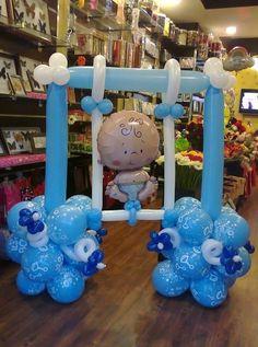 63 ideas fiesta baby shower games cute ideas for 2019 Baby Shower Deco, Baby Shower Cakes, Baby Boy Shower, Baby Boy Balloons, Baby Shower Balloons, Balloon Arrangements, Balloon Decorations, Balloon Columns, Baby Shower Gender Reveal